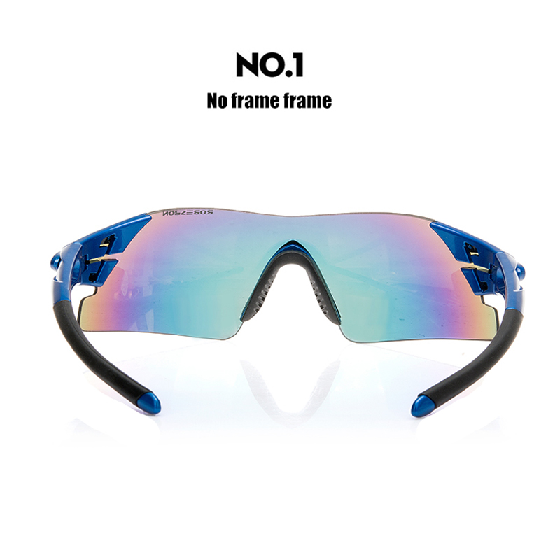 ROBESBON Αθλητικά Ανδρικά γυαλιά ηλίου Ποδήλατα ποδηλασίας Ποδήλατα βουνού Ποδηλάτων Ποδηλασία Ποδηλασία Γυαλιά γυαλιών 5 φακών