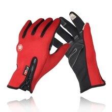Hot Outdoor Sports Men Women Full Slip-resistant Windproof Hiking Running Gloves Thermal Fleece Cold-proof Skiing Gloves