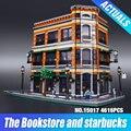 2016 Nova LEPIN 15017 4616 Pcs Criador Starbucks Café Livraria Modelo Kits de Construção Blocos Tijolos Brinquedos de Presente