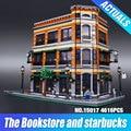2016 Nueva Librería LEPIN 15017 4616 Unids Creador Starbucks Café Kits de Edificio Modelo Bloques Ladrillos de Regalo