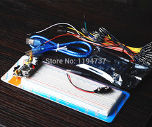 Uno R3 MB-102 830 points Breadboard, 65 Flexible jumper wires , USB Cable and 9V Battery Connector for arduino kit
