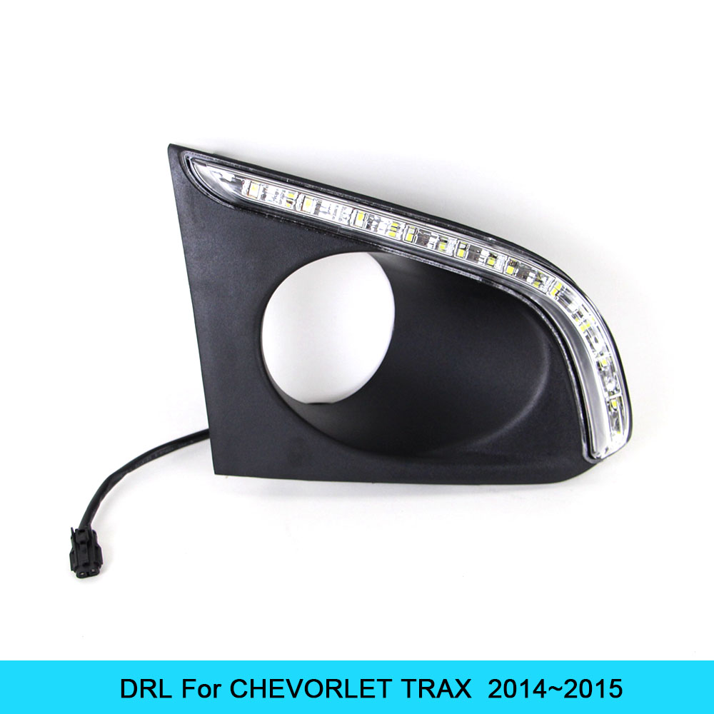 NEW Car DRL kit for CHEVORLET TRAX  2014 2015 LED Daytime Running Light bar Super bright fog auto lamp daylight car led drl 12v car drl kit for audi a4 l b8 2009 2012 led daytime running light bar super bright auto fog lamp daylight for car led drl light
