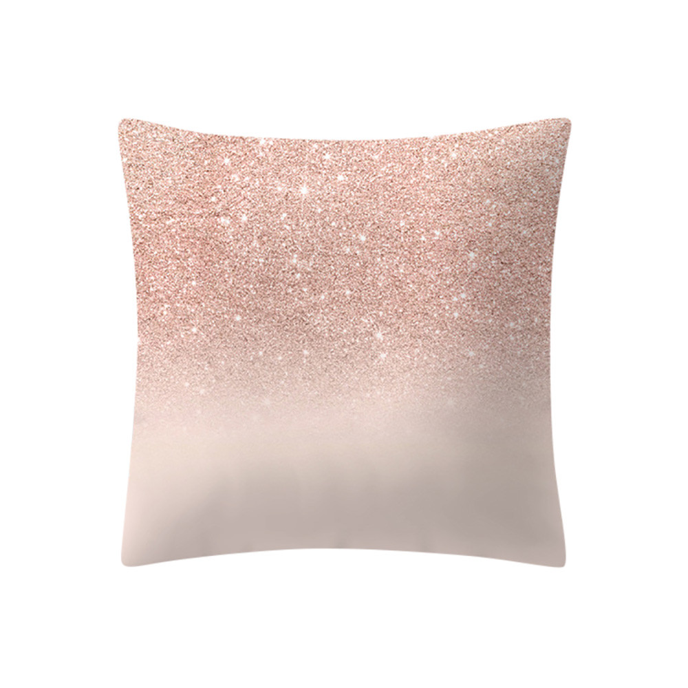 US $1.92 40% OFF|Modern Geometric Rose Gold Pink Cushion Cover Pillowcase  Christmas Decorations Cushions Home Decor Sofa Throw Pillows 18*18 10.4-in  ...