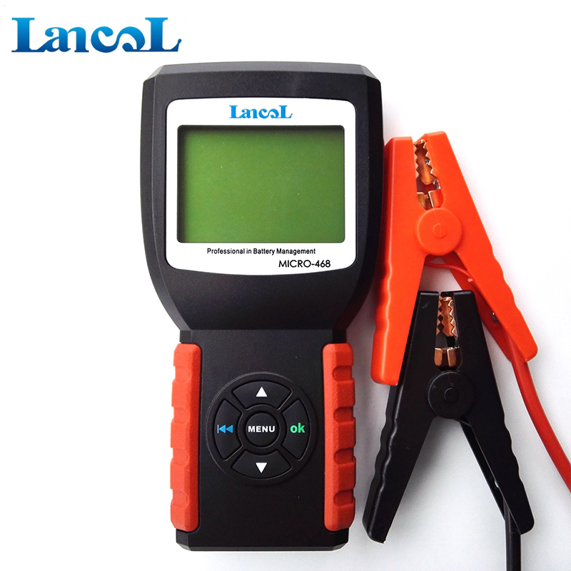 New Released Battery Tester Analyzer CCA MICRO-468 12v 2000CCA Battery Conductance System Analyzer 1 Year Warranty ninth world new handheld storage battery tester car analyzer digital 6v 12v voltage capacity