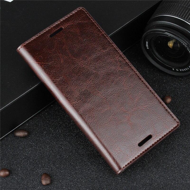 Цена за Бизнес Бумажник Crazy Horse Натуральная кожа чехол для Sony Xperia XZ F8331 двойной F8332 флип телефон сумка-чехол для Xperia XZ Чехол