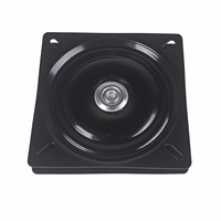 158 x 158 x 2.0mm Metal Black Ball Bearing Square Swivel Turntable Chair Swivel for Bar Stool Chair