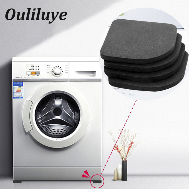 4PCS/Set Anti Vibration Pad Household Table Legs Protection Mat Convenient Washing Machine Refrigerator Leg Non-Slip Shock Mat