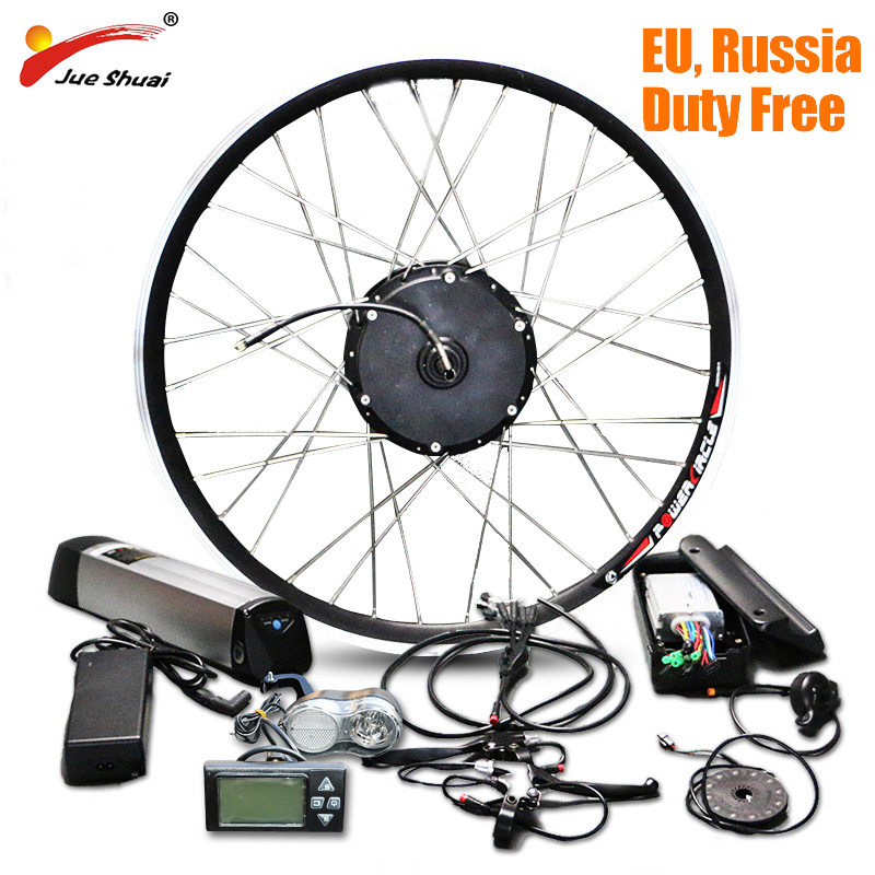 Jueshuai Bicicletta Elettrica Bici elettrica Kit di Conversione con Batteria agli ioni di Litio Batteria 36 v 12ah Hub MotorEbike E-bike kit