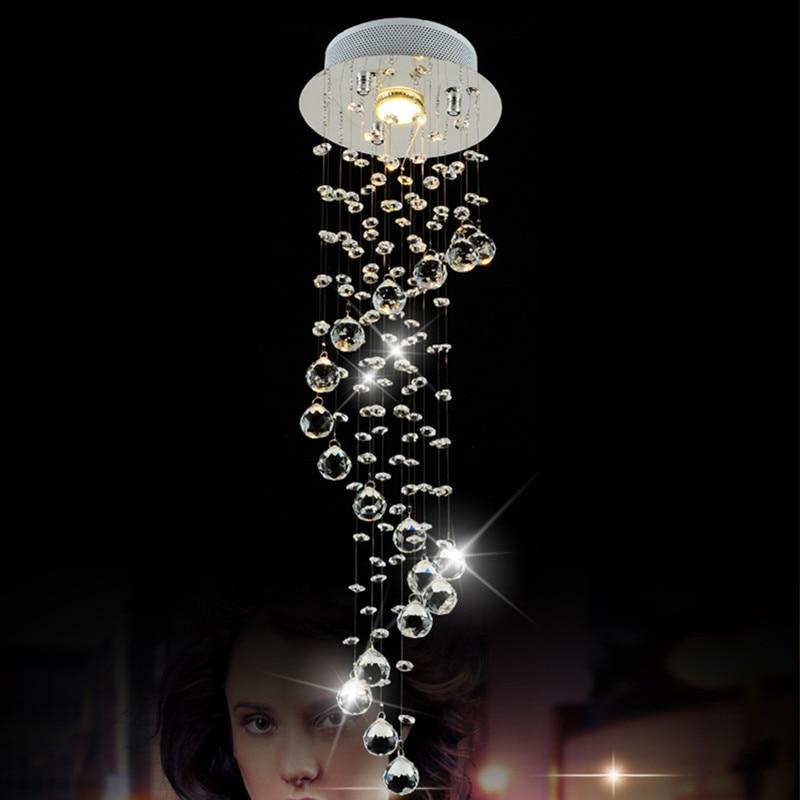modern led crystal chandelier lighting for living room cristal chrome spiral hanging lamp. Black Bedroom Furniture Sets. Home Design Ideas