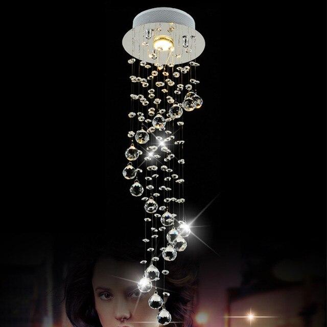 Moderne Kristall Kronleuchter Led Deckenleuchte Küche Leuchten Wohnzimmer  Avize Lange Spirale Lampe Hause Beleuchtung Licht