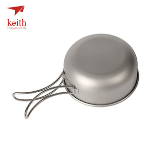 Image 5 - Keith Camping Titanium Bowls 300ml 600ml With Titanium Folding Handles Folding Bowls Cookware Tableware Cutlery Ti5323 Ti5326