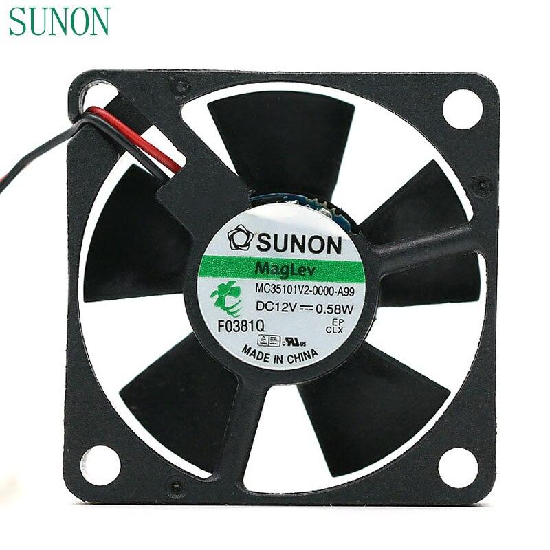 Sunon MC35101V2-0000-A99 DC12V 0.52W 3510 ultra-quiet fan