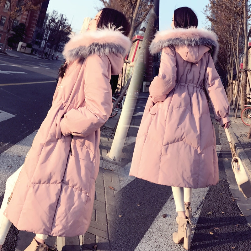 2019 Winter Jacket Women Cotton Wadded Fur Hooded Coat Casual Ladies Warm   Parkas   Women Winter Long Thicken Coats Tops