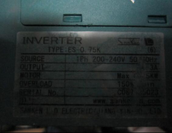 Inverter ES-0.75K 1PH 220V 750W , Used one , 90% appearance new ; 3 months warranty ; in stock,    Inverter ES-0.75K 1PH 220V 750W , Used one , 90% appearance new ; 3 months warranty ; in stock,