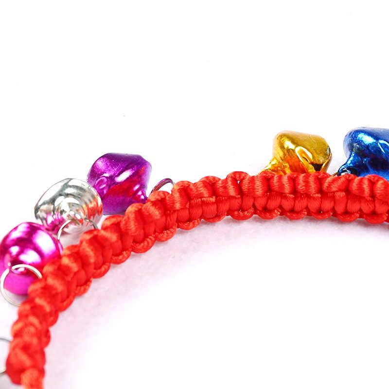 Аксессуары для домашних животных маленькая собака ожерелье с кошкой нейлоновый Плетеный ошейник для кошек Регулируемый для щенков желтый зеленый красный розовый фиолетовый синий