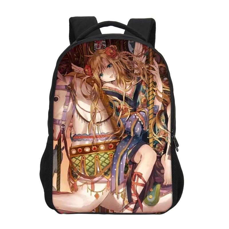 VEEVANV School Bags Anime Printing Backpacks Women Mochila 3D Cartoon Bookbag Fashion Children Shoulder Bag Girls Daily Backpack
