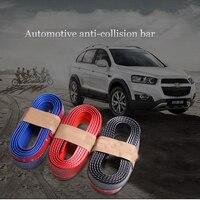 Youwinme Universal Car Bumper Strip Carbon Fiber Rubber Soft Trim Strip Styling Mouldings Front Bumper Lip Protection Scratch