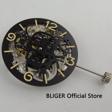 full Skeleton 6497 17 Jewels add one 38.9mm dial hand winding movement M20