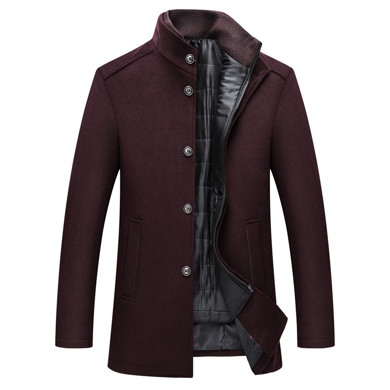 Winter Warm Wool Coat Men Thick Overcoats Topcoat Mens Single Breasted Coats And Jackets With Adjustable Vest Men's Coat 5