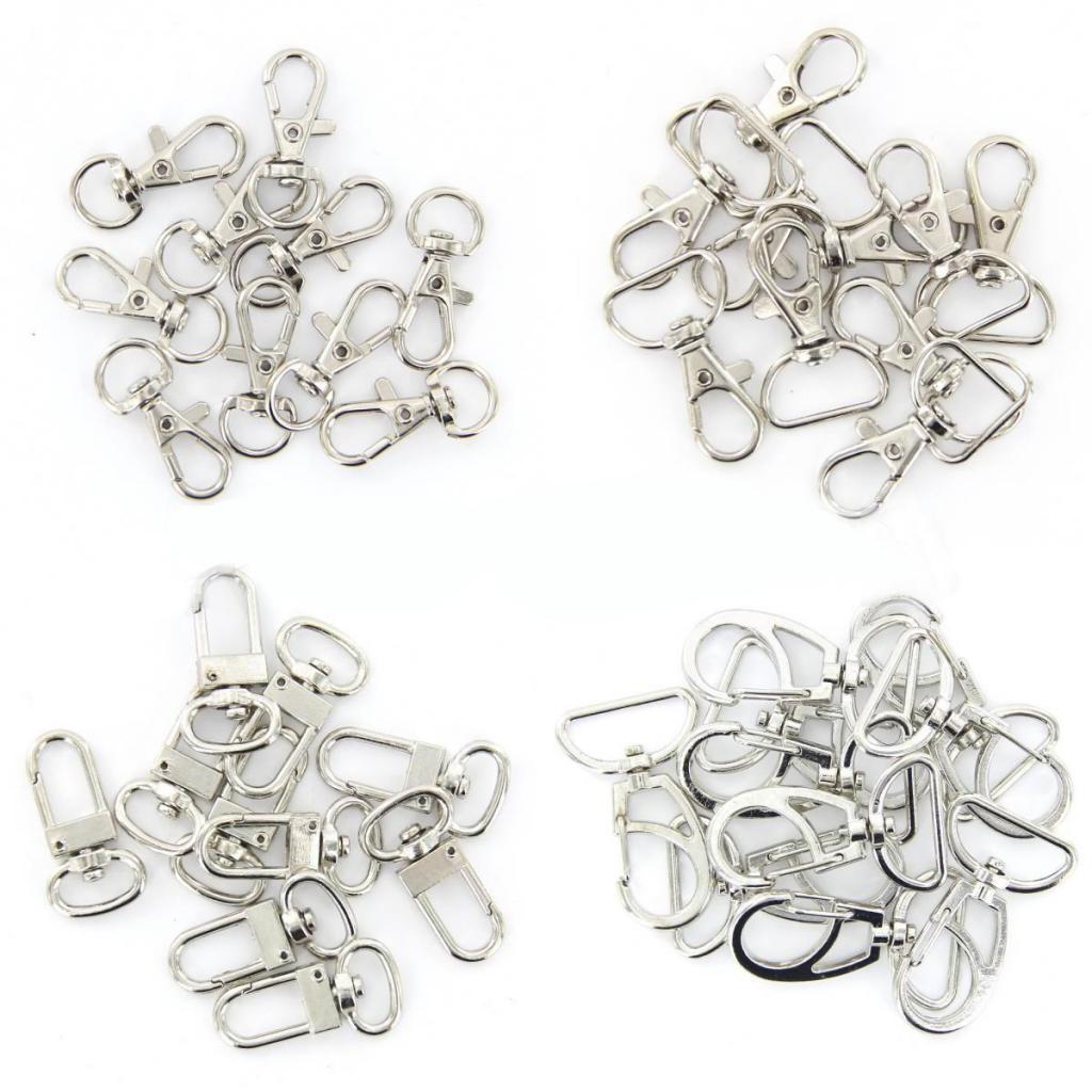 10pcs Wholesale Silver Tone Swivel Trigger Snap Hooks for Keychains Hanging Crafts Findings Jewelry DIY Craft Backpack Bag Parts in Jewelry Findings Components from Jewelry Accessories