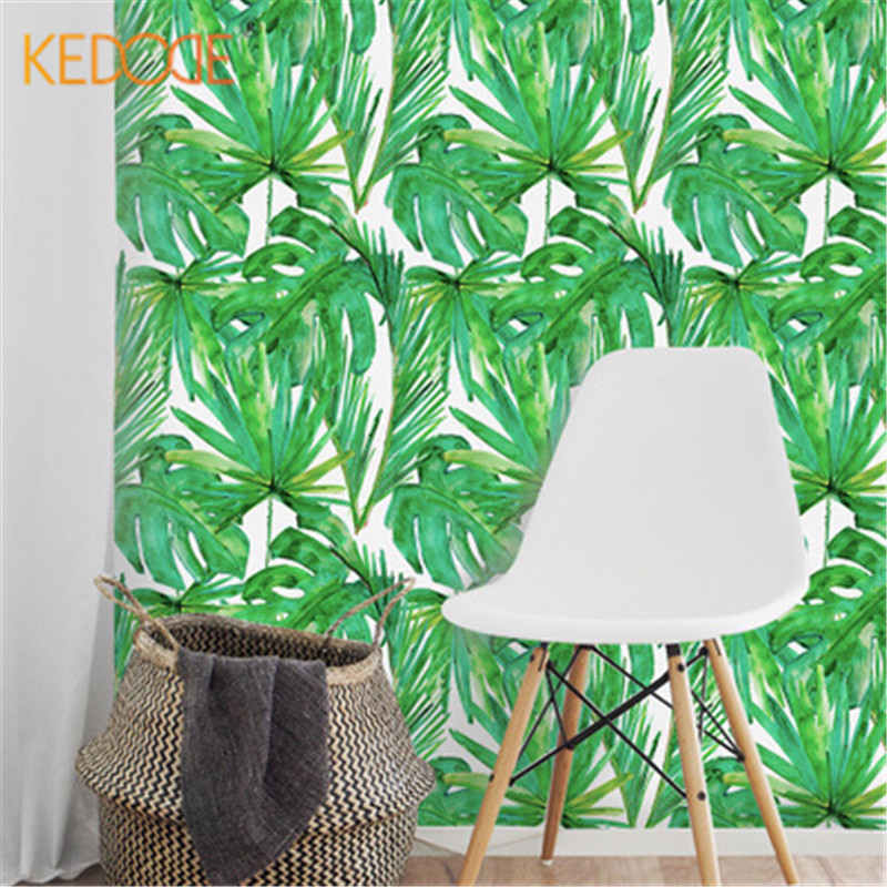 KEDODE Scandinavische stijl groene blad stickers slaapzaal decoratie - Huisdecoratie