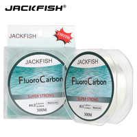 JACKFISH hilo de pesca de fluorocarbono 300M 330yds fibra de carbono línea líder mosca línea de pesca para carpa pesca aparejos de pesca