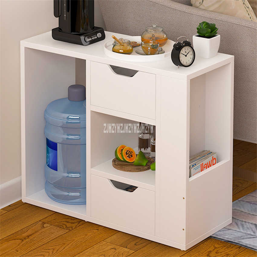 E554 Bedroom Nightstand Home Furniture Night Table Living Room Bedside Cabinet Bedstand Simple Modern End Table Storage Cabinet