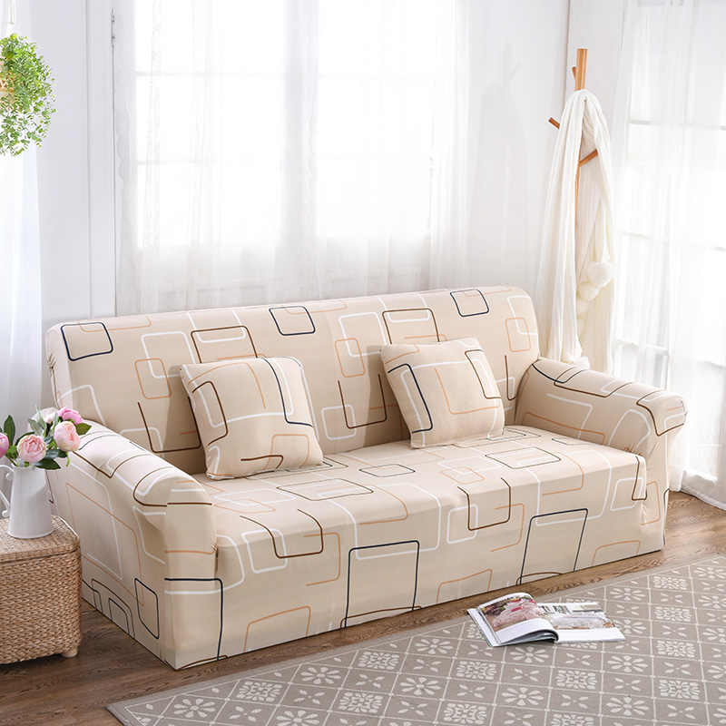 Clic Style Patterned Sofa Cover All Inclusive Slip Resistant Elastic Couch Corner
