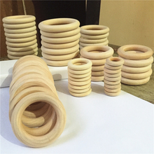 2017 DIY 5-100PCS Wooden Beads Connectors Circles Rings Beads Unfinished Natural Wood Lead-Free Beads 2CM-10CM cuentas de madera