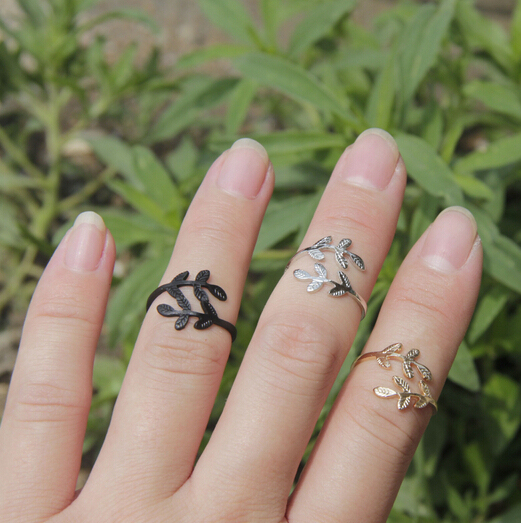 Timlee R012 Free shipping Grace Fashion Leaf Small finger Rings,Fashion Jewelry