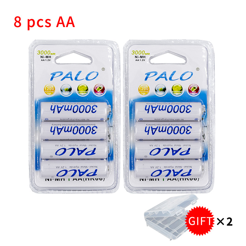 Bateria recarregável pré-carregada 2a baterias para câmera, relógio e navalha baterias 1.2 v aa 3000 mah ni-mh da bateria de 4 pces 2a aa