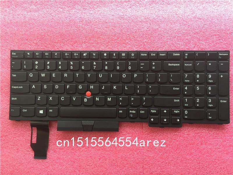 цена на New Original laptop Lenovo ThinkPad E580 L580 no Backlit Keyboard with Trackpoint US English 01YP560