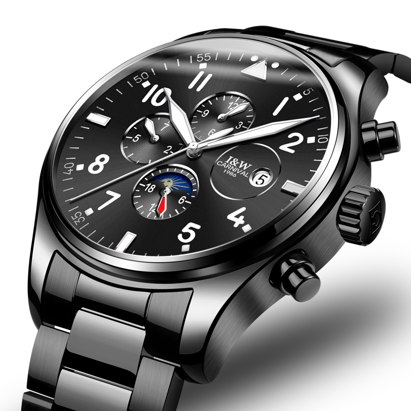 Carnival Top Brand Luxury Men Watches Automatic Mechanical Watch Men Sapphire reloj hombre Luminous relogio Wristwatch C8764G 9|wristwatch brand|wristwatch mens automatic|wristwatch mens - title=