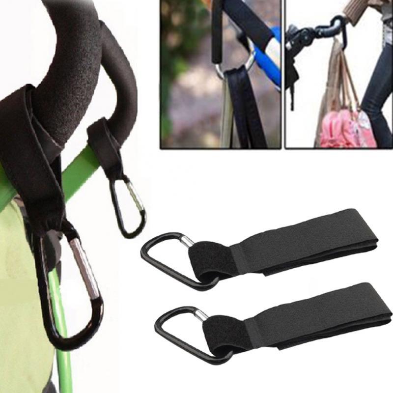 Universal Baby Stroller Hooks Pram Pushchair Stroller Carriage Buggy Hook Lightweight Magic Sticker #HI10331
