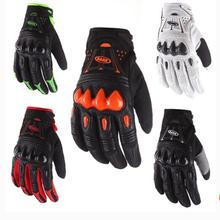 Band 2017 Leather Bomber Carbon Fiber Motorcycle Mens font b Gloves b font Off Road font