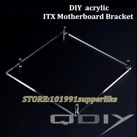 Debroglie 1 шт. ITX материнская плата кронштейн DIY прозрачный акриловый ITX материнская плата Графика видео карты лоток для компьютера