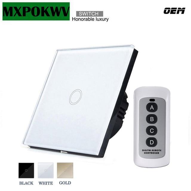 Hogar inteligente de la UE/Reino Unido interruptor de Control remoto 1 pandilla 1 manera inalámbrico de luz de la pared interruptor de Control de 220 v módulo de automatización inteligente para el hogar