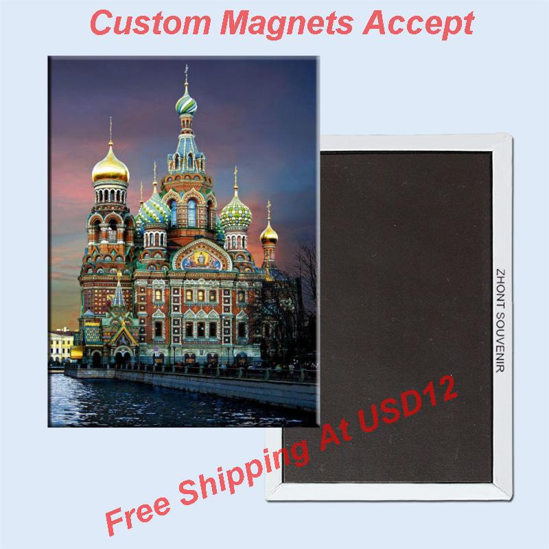 ტურისტული მაგნიტები, სანკტ – პეტერბურგი რუსეთში, მაცხოვრის ეკლესია სისხლის მართკუთხედ მეტალის მაცივრის მაგნიტი 5544 ტურისტული სუვენირი