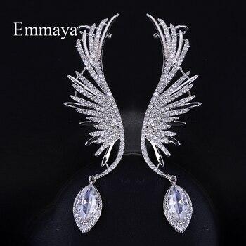 dc6bff9f6049 Pendientes de novia de moda Emmaya pendientes de boda alas de Ángel gota  AAA Zirconia cúbica