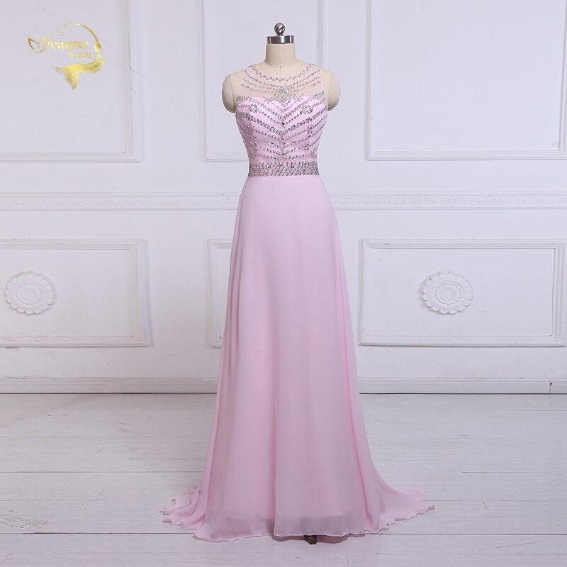 Jeanne Love Formal Long Evening Dresses 2019 Transparent Backless  Sweetheart Shiny Woman Evening Dress Robe De 62c184cc4956
