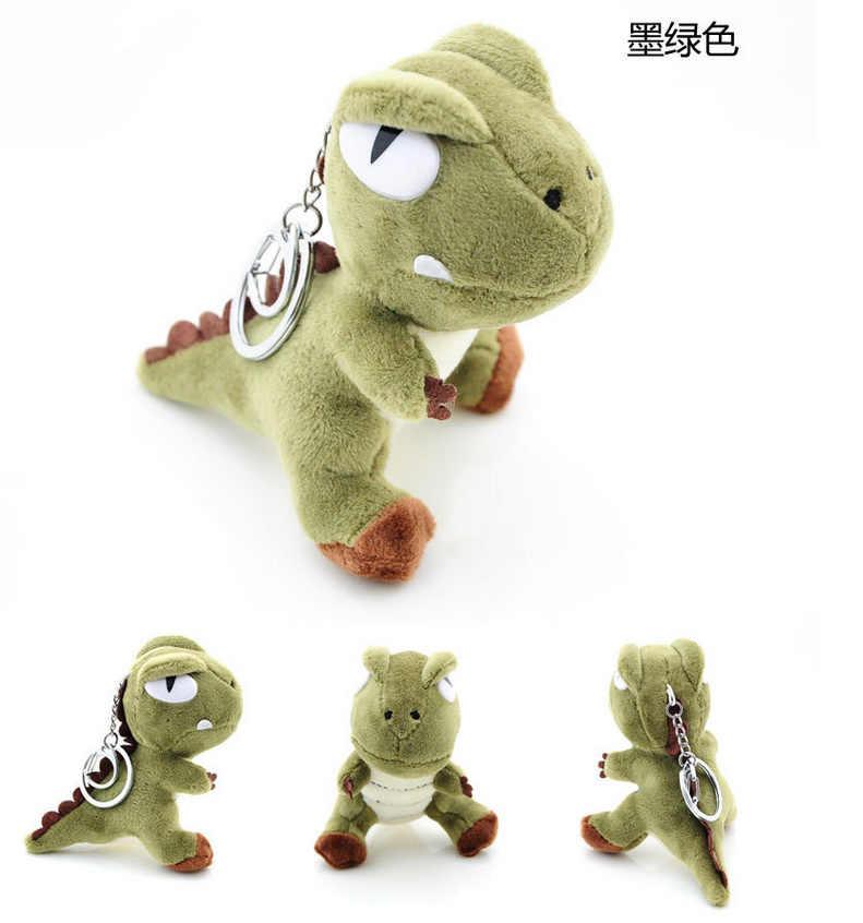 1 PEÇAS Cor Aleatória-Kawaii Bonito do Dinossauro Dragão Plush Bicho de Pelúcia, 10 CM delicado anel chaveiro Pingente BONECA Dom BRINQUEDO de Pelúcia