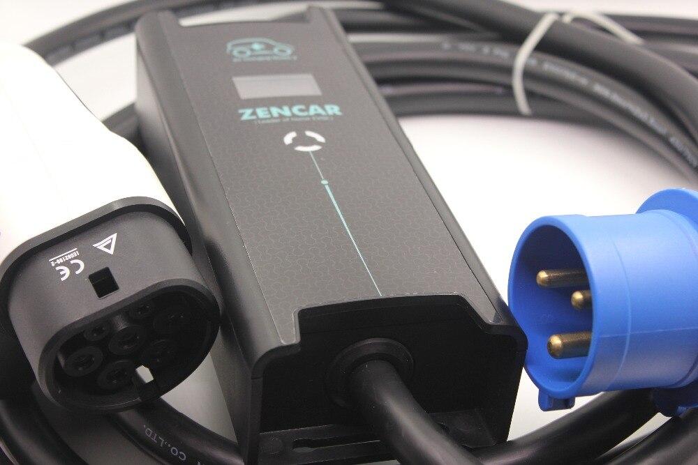 EV Зарядное устройство Регулируемый evse 10 16 20 24 32a 3 контакты вилка CEE IEC62196 Тип 2 7 контакты для электрических автомобиль Зарядное устройство 5 м ...