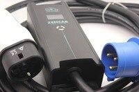 Ev Зарядное устройство Регулируемый evse 10 16 20 24 32A 3 контакты вилка CEE IEC62196 Тип 2 7 контакты для электрических автомобилей Зарядное устройство 5 м