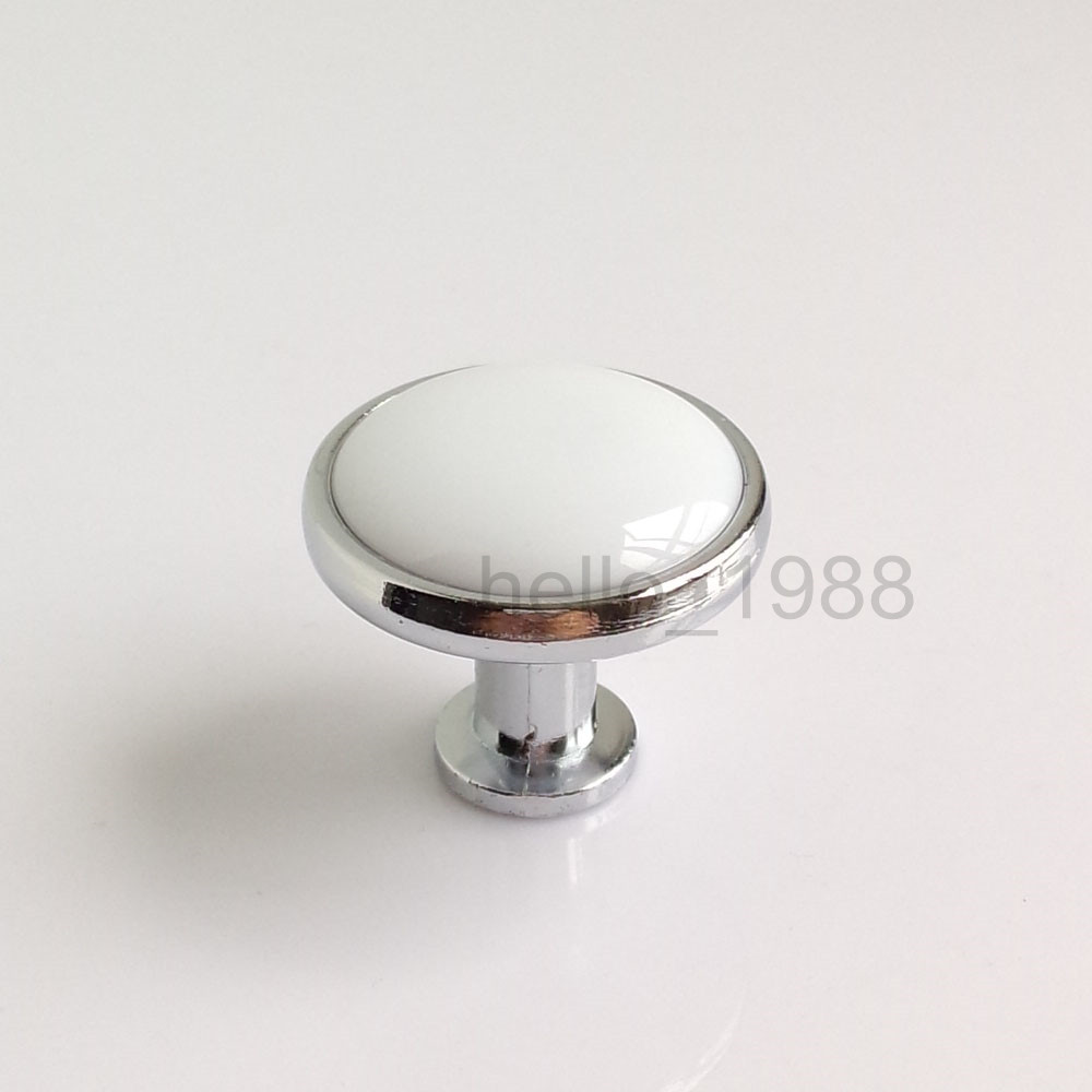 Kitchen Door Handles Chrome Online Buy Wholesale Ceramic Kitchen Cabinet Knob White Chrome