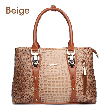 Handbag Luxury High Quality Crocodile Leather Tote Hand Bag Personality & Fashion