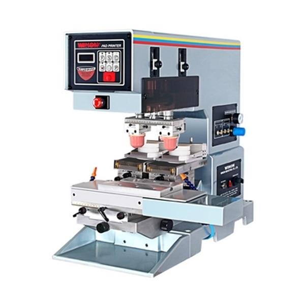 Пневматические 2 цвет чернил кубок печатная машина пусковой площадки, pad printing machine used