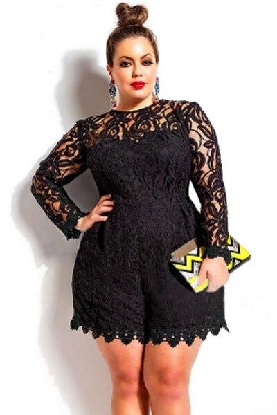 Black Lace Dress for Plus Size Women