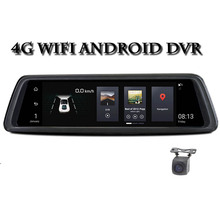 10Full Touch IPS 4G Android Mirror GPS FHD 1080P Dual lens Car DVR vehicle rearview mirror camera ADAS WIFI 10 full touch ips car dvr camera rearview mirror gps navigation dual lens automobile wifi android 5 1 4g network video recorder