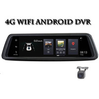 10Full Touch IPS 4G Android Mirror GPS FHD 1080P Dual lens Car DVR vehicle rearview mirror camera ADAS WIFI