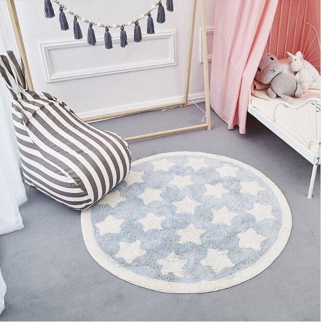 Tapis de jeu bébé rond Tapete Infantil tapis de jeu enfants Speelkleed tapis nouveau-né nordique bébé chambre décor enfants jeux activité tapis